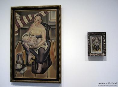 Maternidad (1922) junto a  Madre y niño - maternidad (1926)