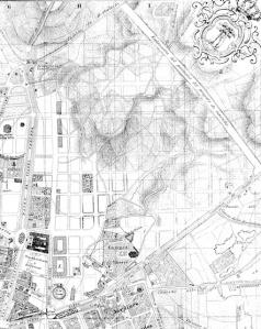 Plano de Madrid, 1866 (detalle)