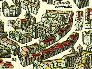 Plano de Antonio Mancelli (detalle), 1625.