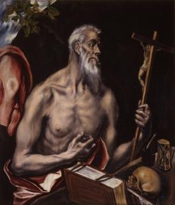 San Jerónimo. El Greco © Real Academia de Bellas Artes de San Fernando