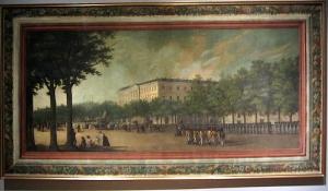 El Palacio de Buenavista y la fuente de Cibeles.