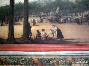 El Palacio de Buenavista y la fuente de Cibeles (detalle).